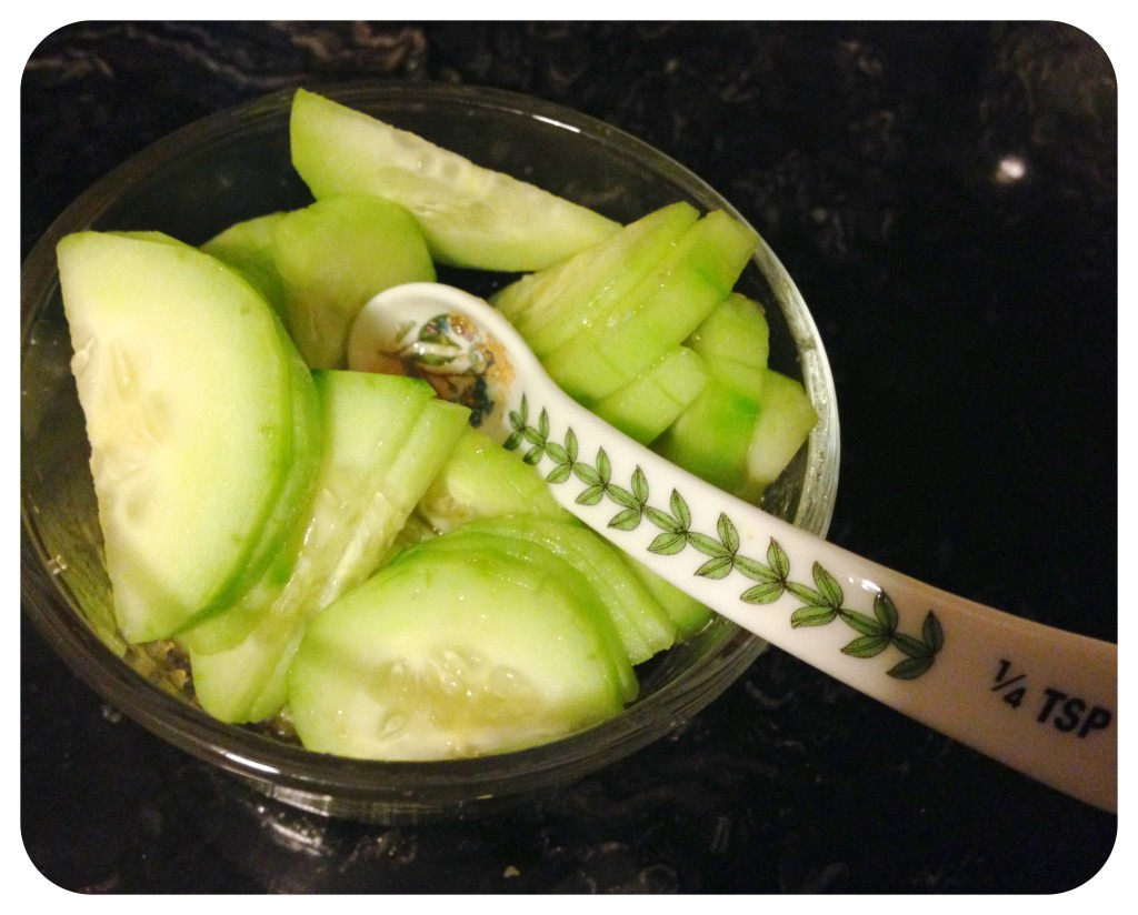 Cucumber Salad (Sunomono)!