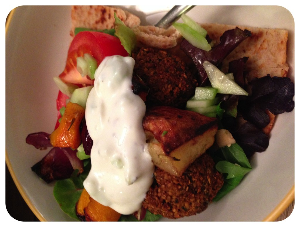 Falafel Salad for Dinner