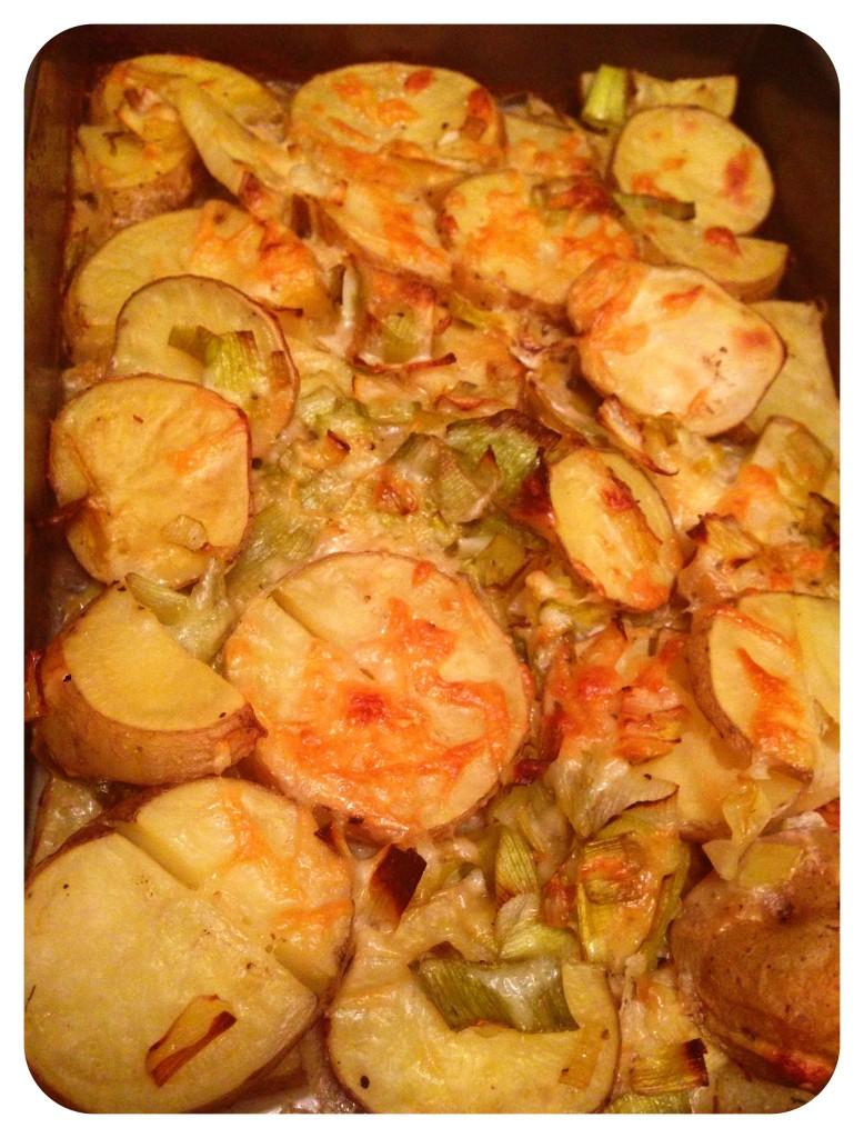 Leek & Potato Gratin: nom nom nom.