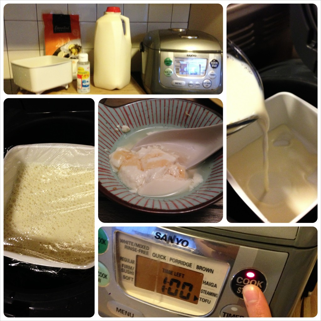 rice cooker tofu steaming method