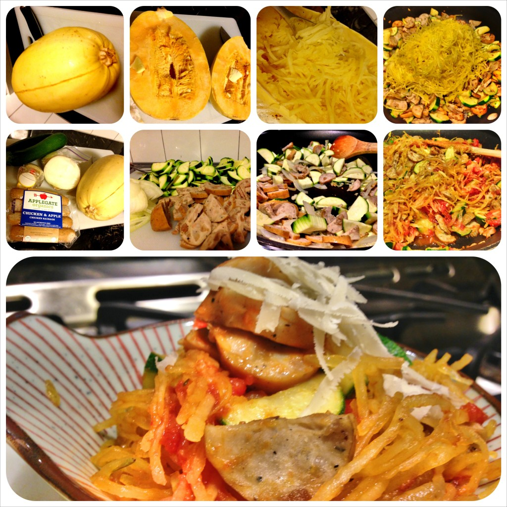 spaghetti squash as pasta recipe.