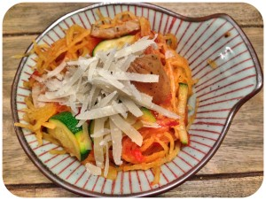 spaghetti squash as pasta dish