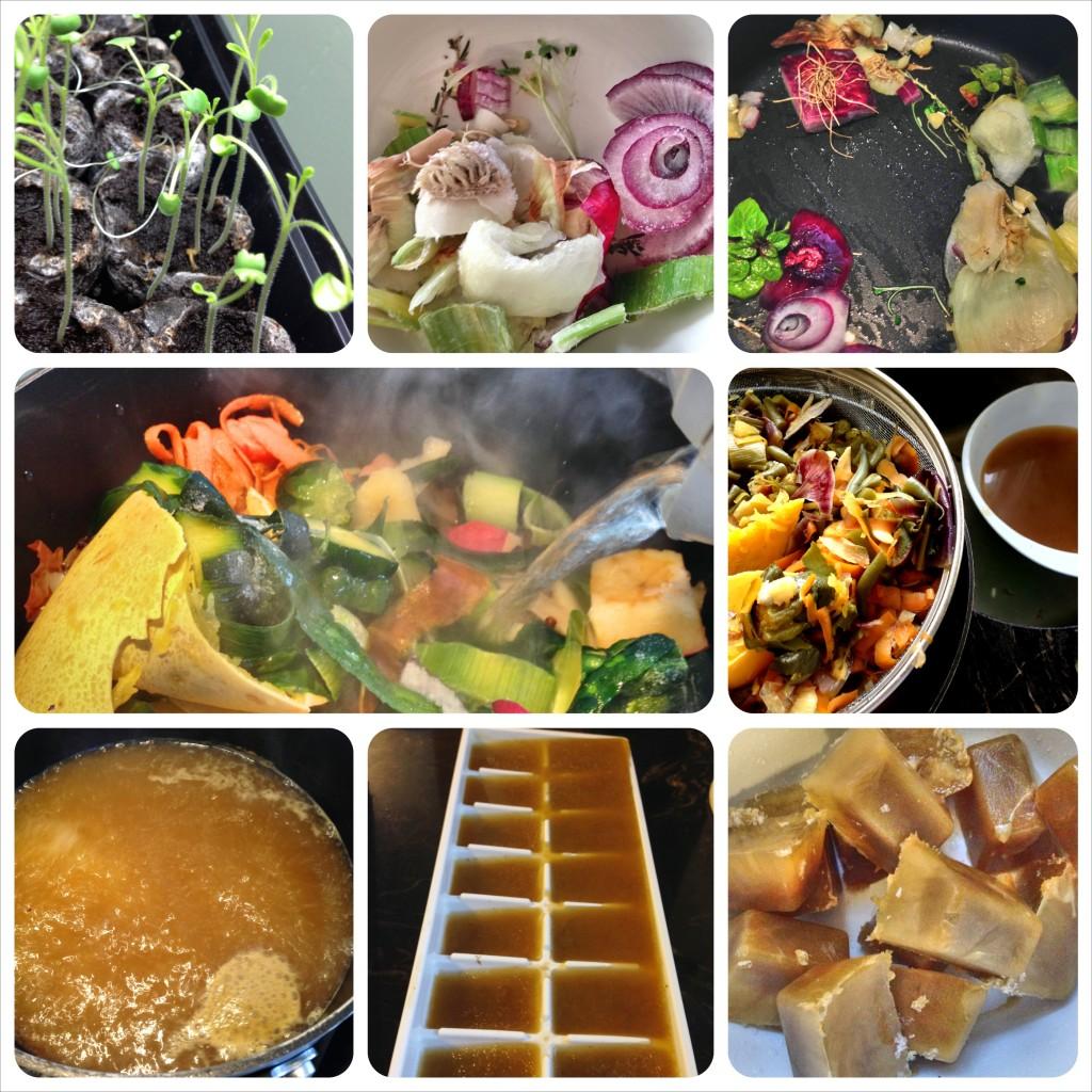 Saute, boil, skim, strain, boil, freeze.