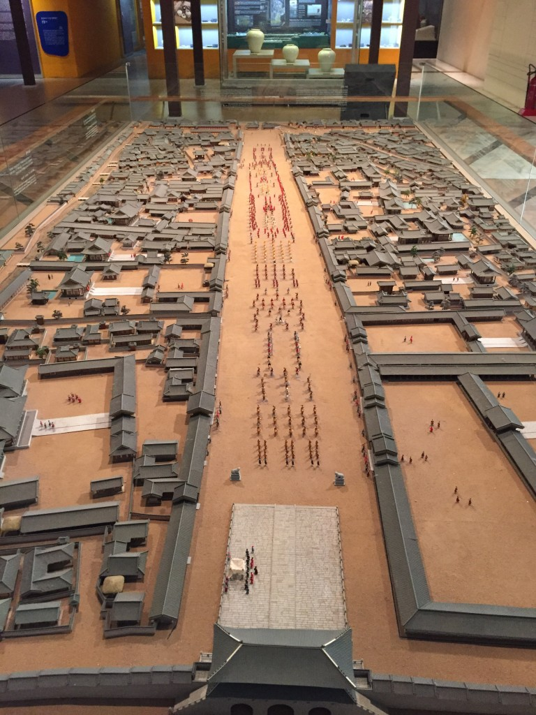 Palace layout from days of yore. Some one here is really into scale models.