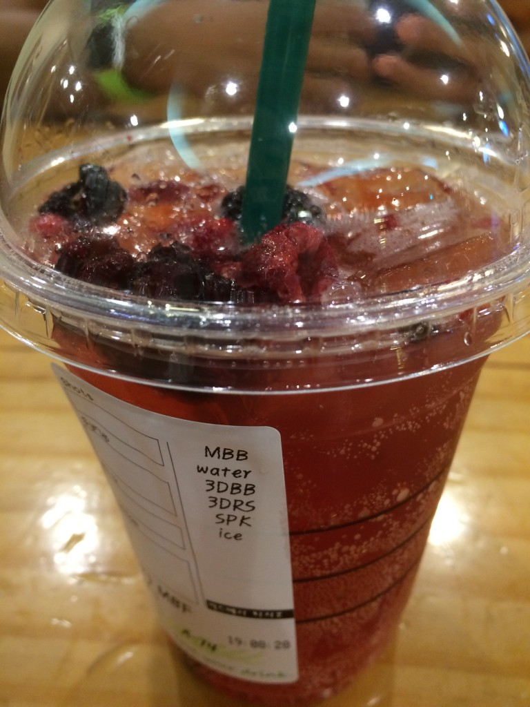 Fun fact: In Seoul, when you get a berry tea t Starbucks, it actually comes with berries.