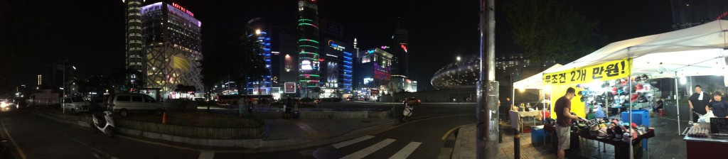 @Dongdaemun Cultural Center Station: night scene near market.