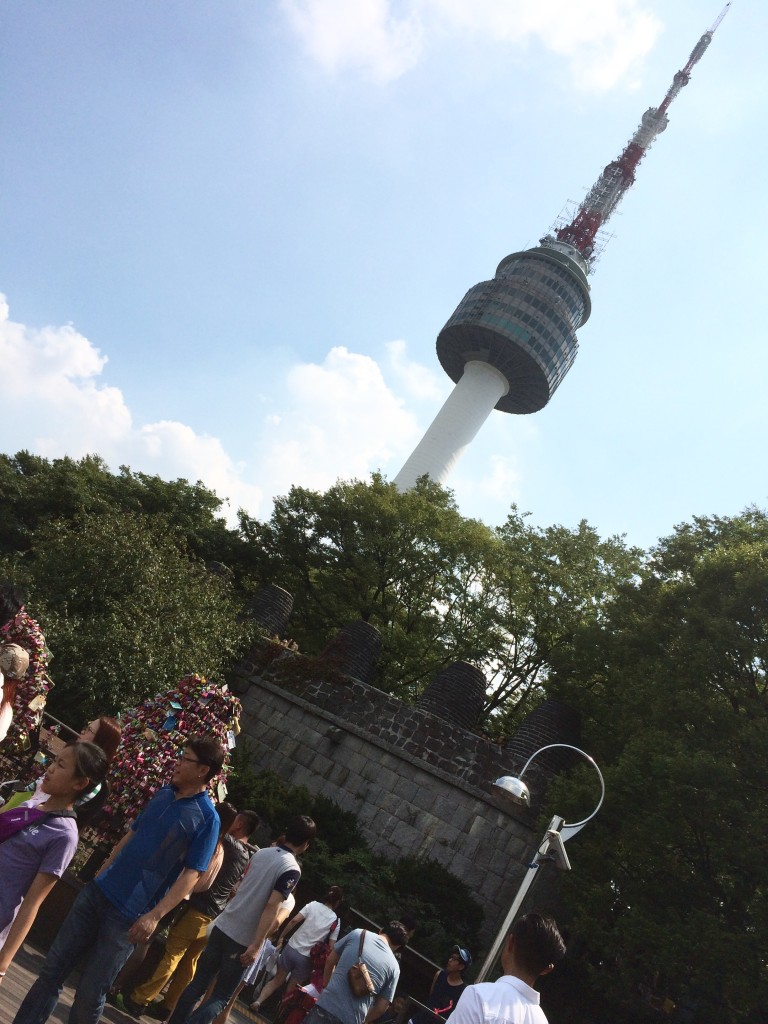 @Namsan Park: view of Seoul Tower.