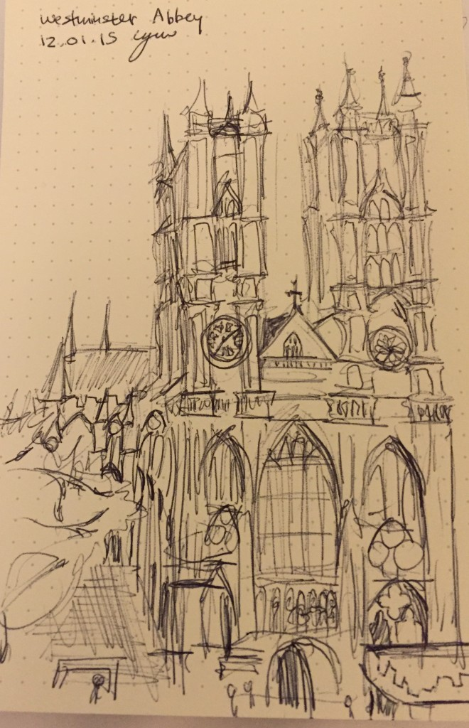 Westminster Abbey doodle by me.
