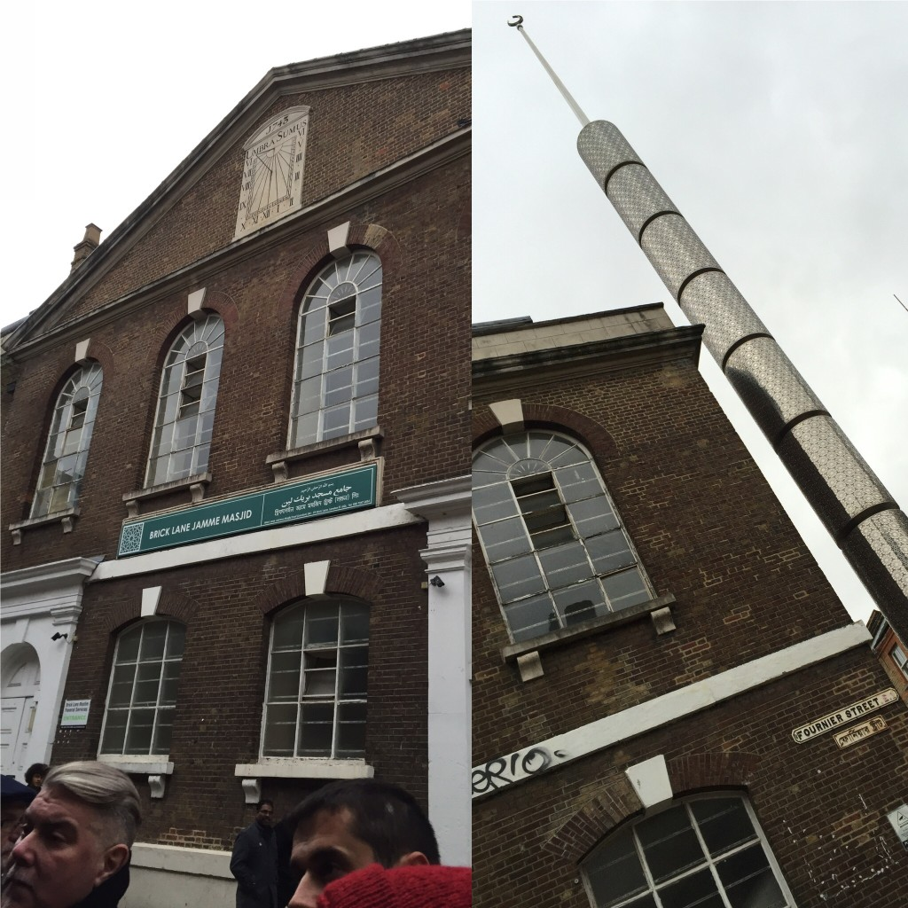 An East End mosque, which used to be a synagogue, which used to be a Huguenot church. History.