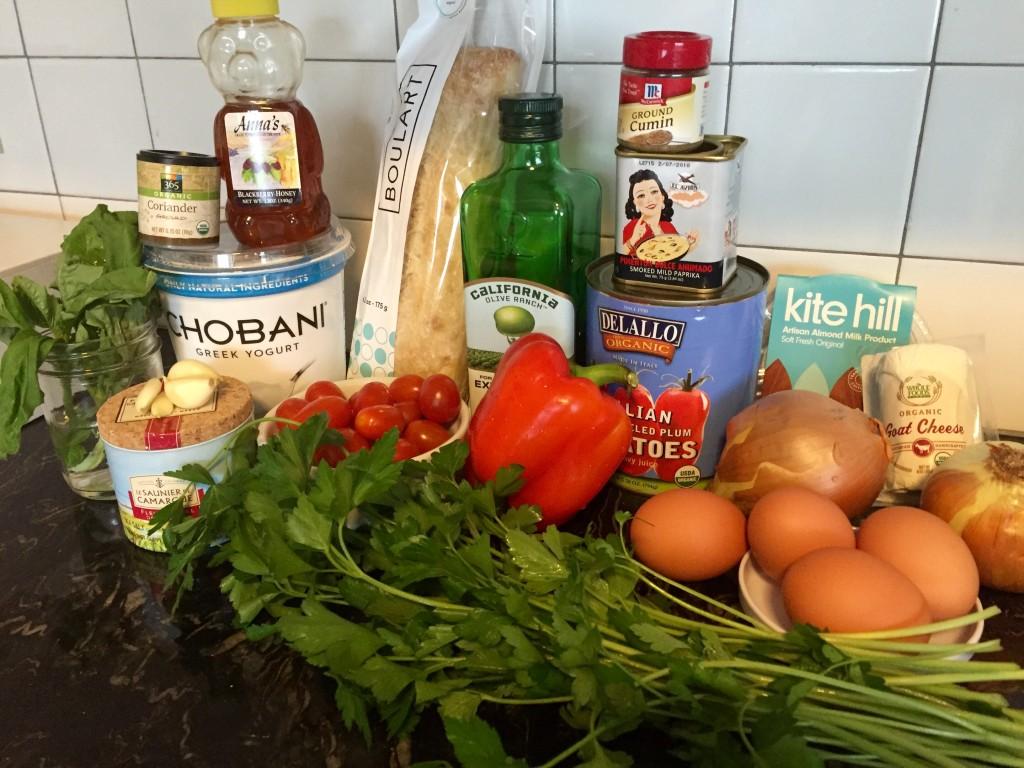 Ingredients amassing.