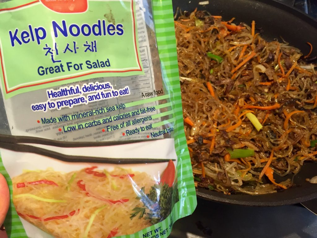 A closer look at the kelp noodle brand I tried.