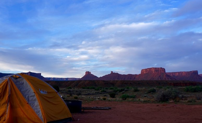 View of the Moab Desert, Utah around 5AM 4-17-2017.