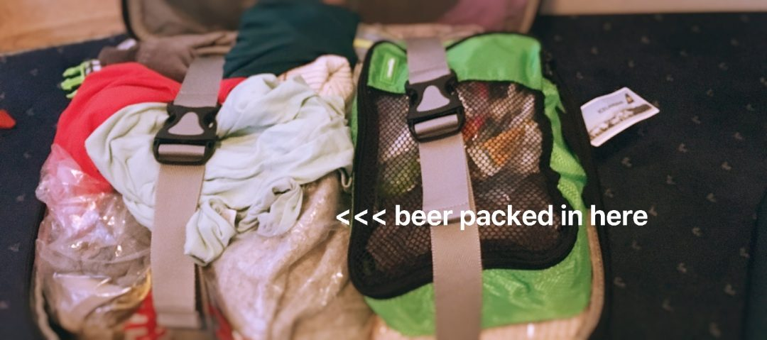 How to pack beer in your check-in luggage home.