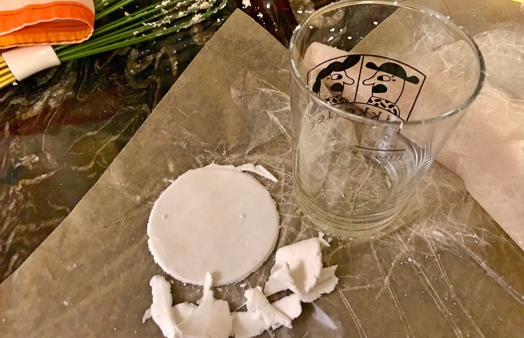 Gluten-free pot sticker wrappers: after cutting out circles with the rim of a glass