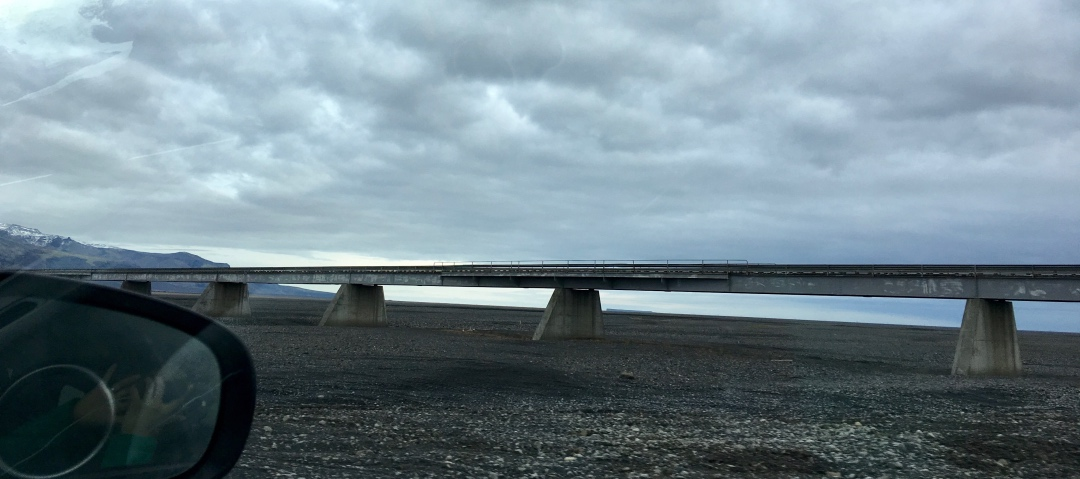 Dead bridge from glacial flooding in 2010 (South Iceland)