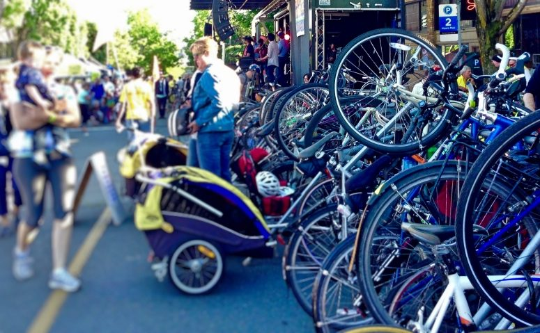 2013 Bike to Work Day celebration in Ballard, Seattle