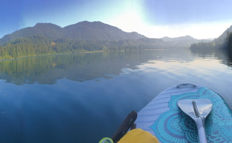 Paddling in the shadow of Mt St Helens, OR